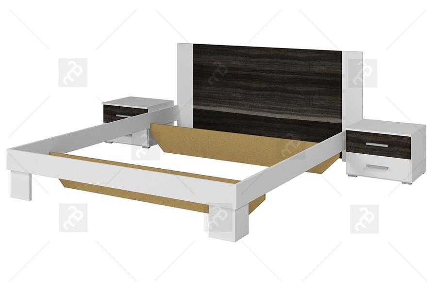 łoże 180200 2 Stoliki Nocne Vera 52 Białyorzech Czarny