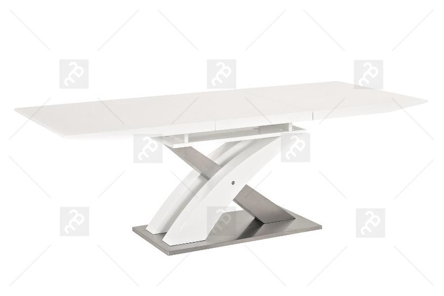 Nabytok-Bogart Rozkladací stôl raul - biely lak - výpredaj