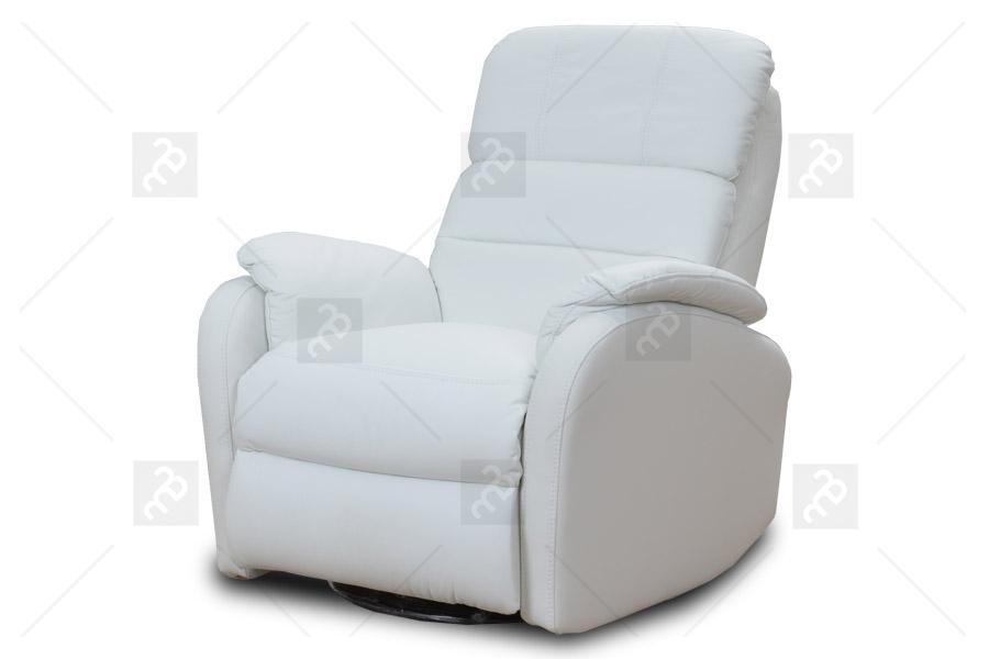 Ideal Sofa Fotel Amber RE TYP 1 Rozkładany elektrycznie z funkcją bujania i obracania Skóra