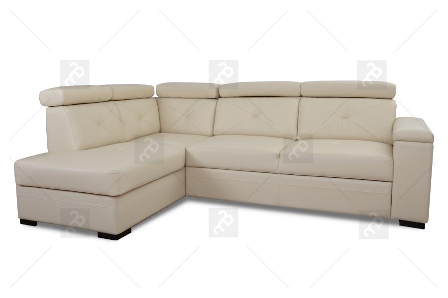 Nabytok-Bogart Rohová sedacia súprava modern - koža + eco - krém - ostatnia sztuka