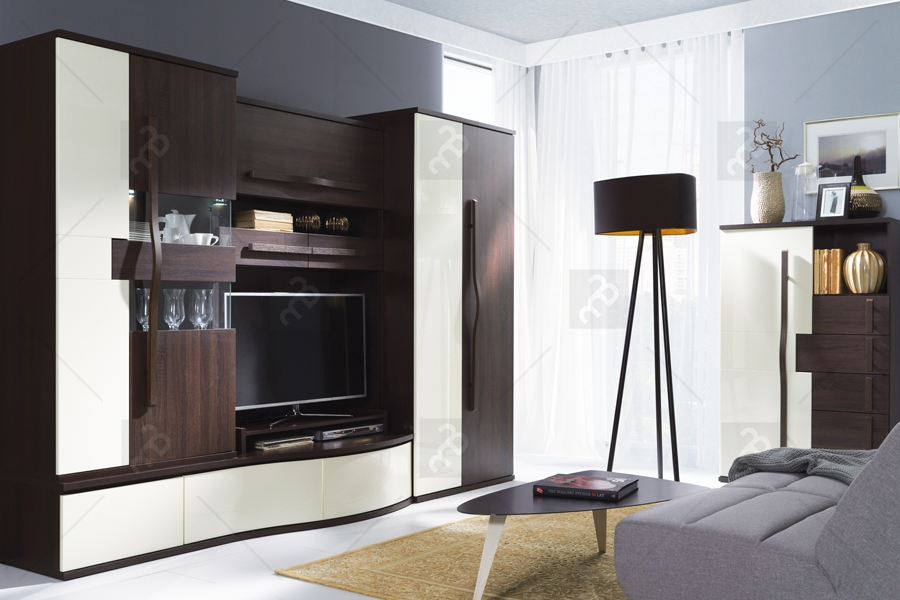 Nabytok-Bogart Komplet nábytku i chanell čokoláda/ecru