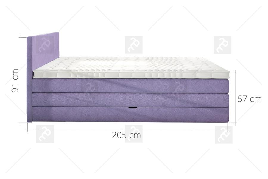 łóżko Kontynentalne Emma 160 X 200