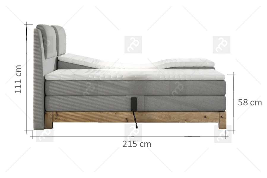 Eleganckie łóżko Sypialniane Kingston 180 X 200
