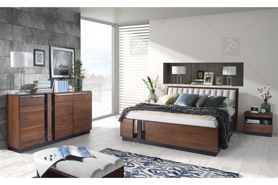Nabytok-Bogart Zostava nábytku do spálne porti - antický dub