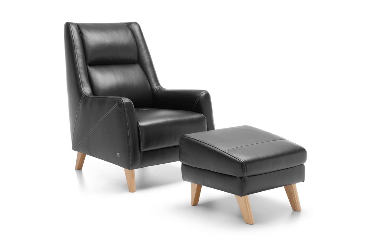 Etap Sofa Fotel z podnóżkiem Fiord