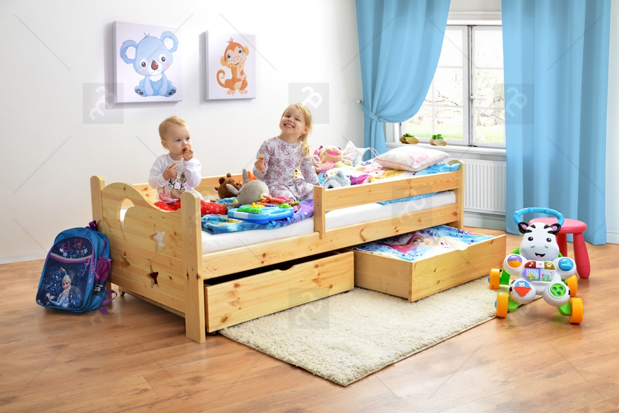 łóżko Stars 2 Dp 021 Z Szufladami Sosna Lakier Wyprzedaż Ekspozycji