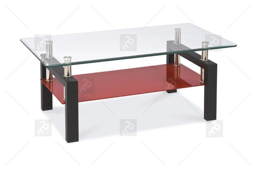 Nabytok-Bogart Konferenčný stolík lisa ii - čierna/červená - výpredaj