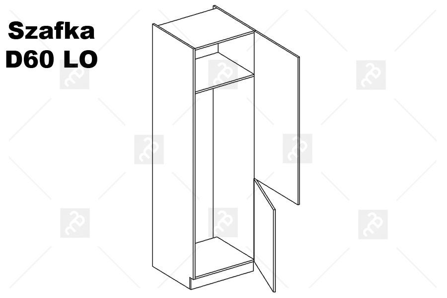 Nabytok-Bogart Amelia bílá d60 lo p/l - skrinka pre vstavanú chladničku, biela