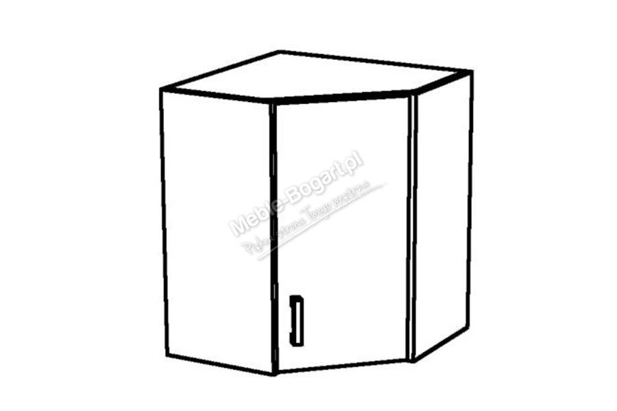 Nabytok-Bogart Blanka l wnp 60 pil - skrinka rohová závesná, biela