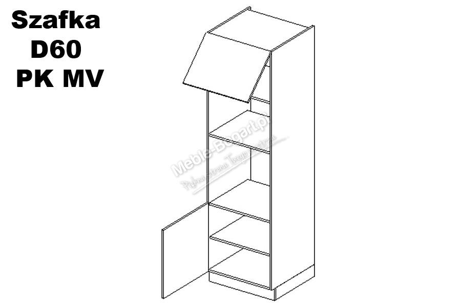 Nabytok-Bogart Ewa d60 pk mv - skrinka pre vstavanú rúru, biela
