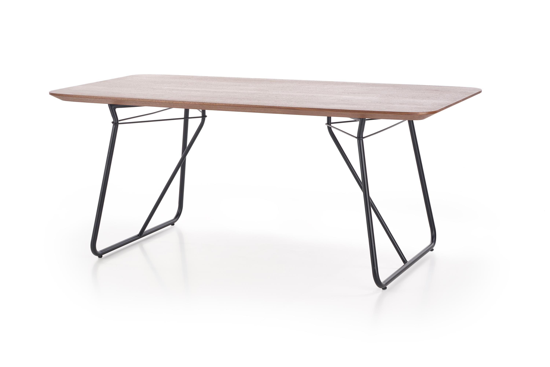Nabytok-Bogart Houston stôl orech / čierna (2p=1szt)