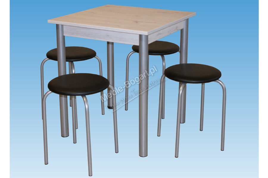 Nabytok-Bogart Komplet stôl metis + 4 kuchynské stoličky orbit