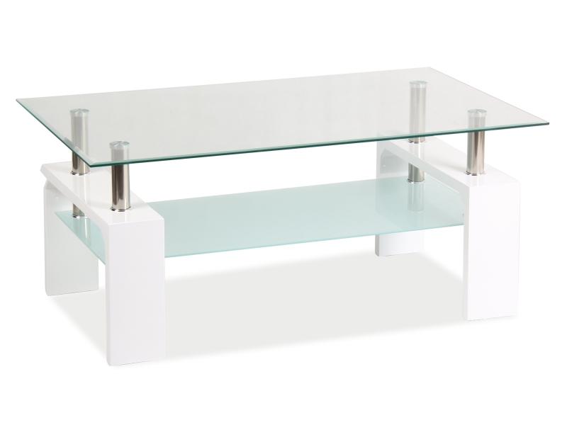 Nabytok-Bogart Konferenčný stolík lisa basic ii biala 100x60x55