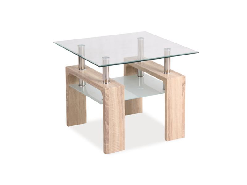 Nabytok-Bogart Konferenčný stolík lisa d dab sonoma 60x60x55