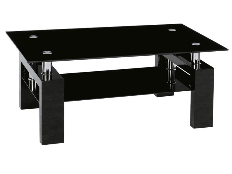 Nabytok-Bogart Konferenčný stolík lisa ii čierna lakierowana (h) 110x60x55