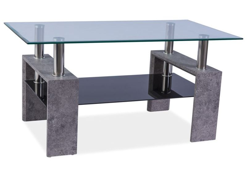 Nabytok-Bogart Konferenčný stolík lisa ii šedý kamień 110x60x55