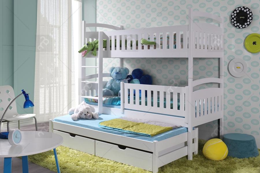 łóżko Piętrowe Ania 3 Osobowe 80 X 190 Meble Bogartpl