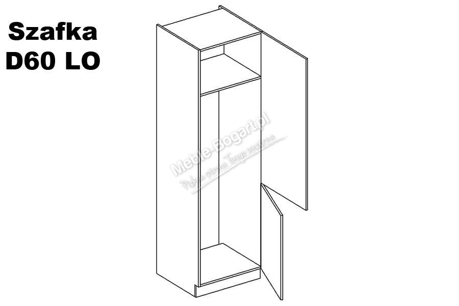 Nabytok-Bogart Negro d60 lo/2333 - skrinka pre vstavanú chladničku, biela