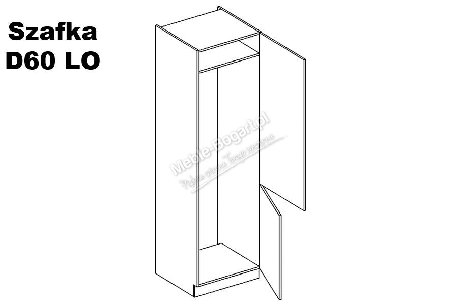 Nabytok-Bogart Negro d60 lo p/l - skrinka pre vstavanú chladničku, biela