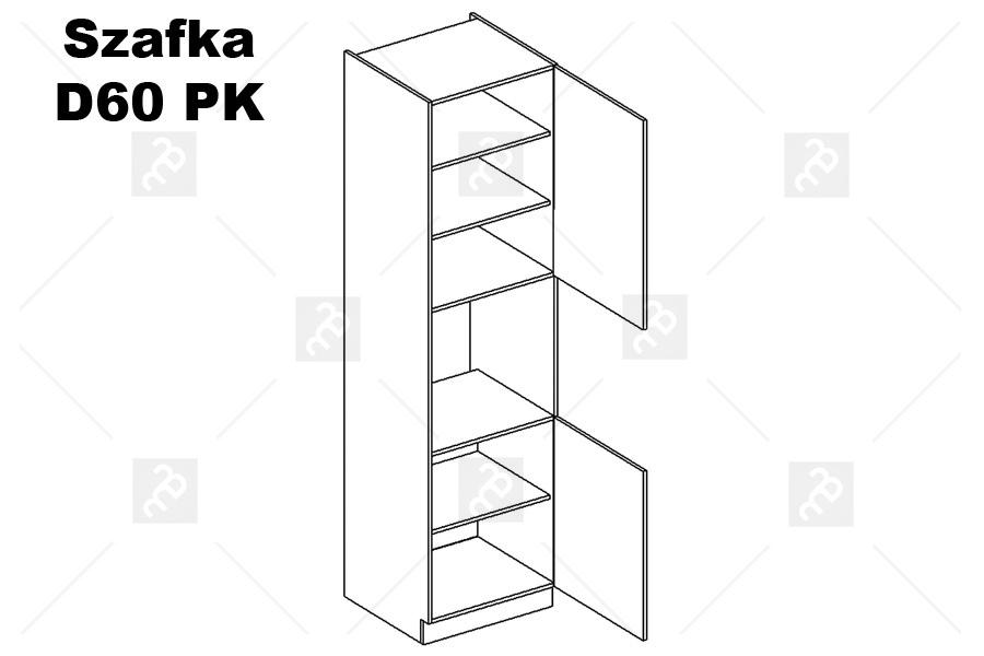 Nabytok-Bogart Oliwia d60 pk p/l /2333 - skrinka pre vstavanú rúru, biela