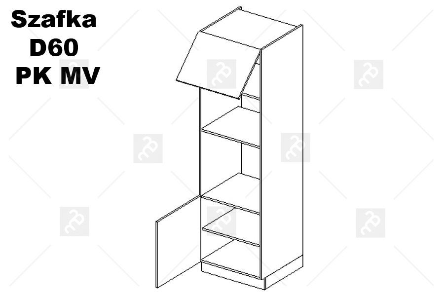 Nabytok-Bogart Oliwia d60 pk p/l 2133 mv - skrinka pre vstavanú rúru, biela