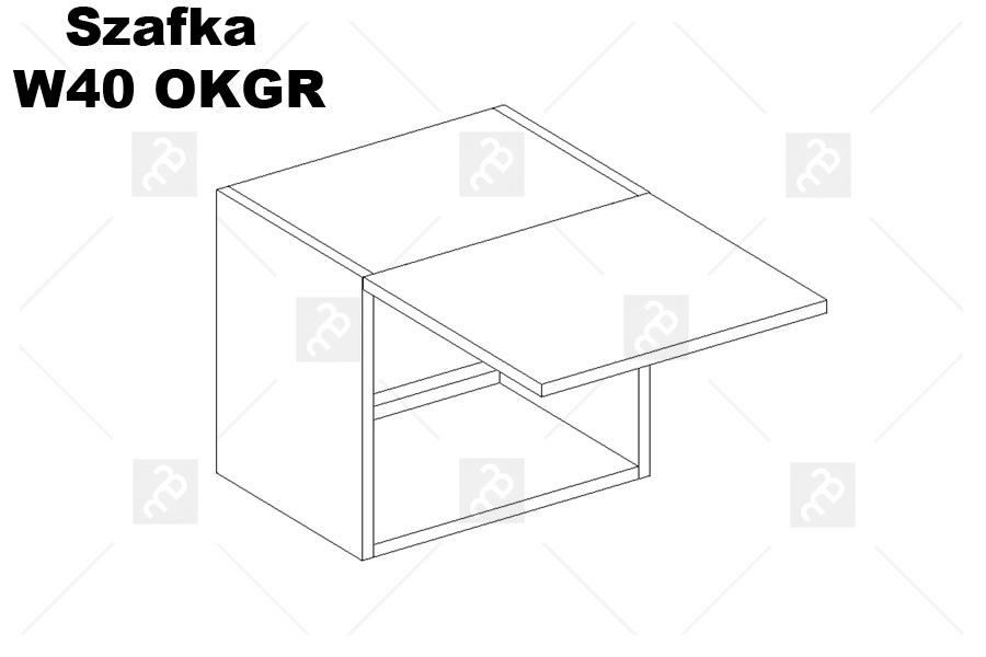 Nabytok-Bogart Oliwia w40 okgr - skrinka digestorová, biela