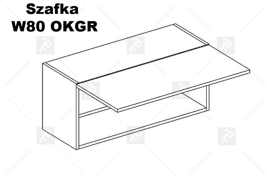 Nabytok-Bogart Oliwia w80 okgr - skrinka digestorová, biela