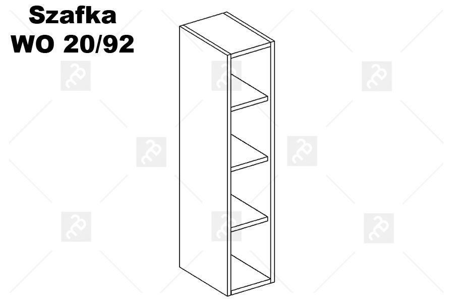 Nabytok-Bogart Oliwia wo 20/92 - skrinka závesná, biela