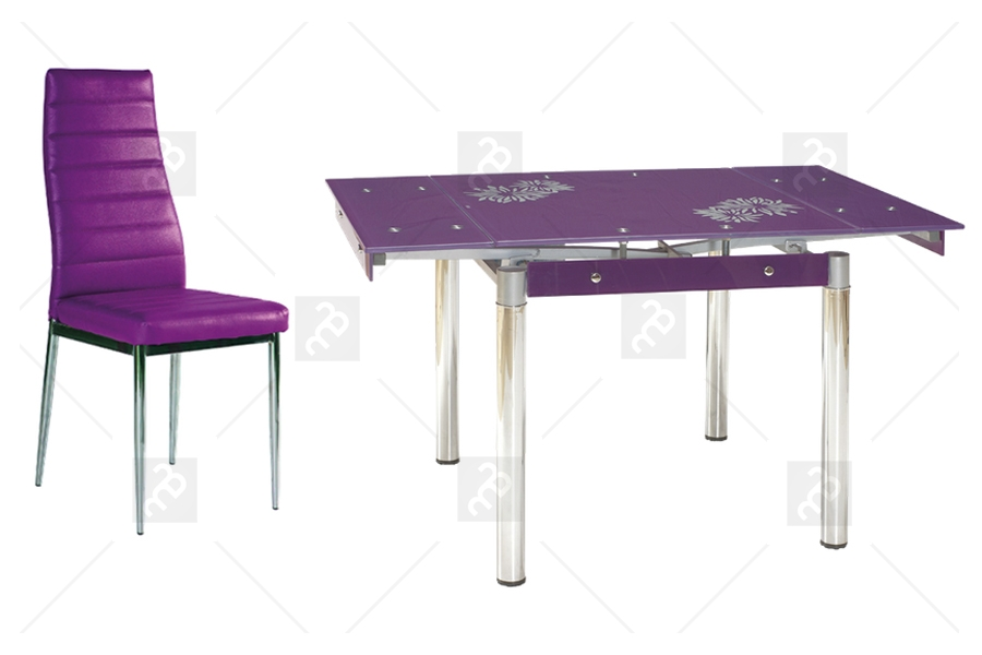 Stół Gd 082 4 Krzesła Fiolet Wyprzedaż