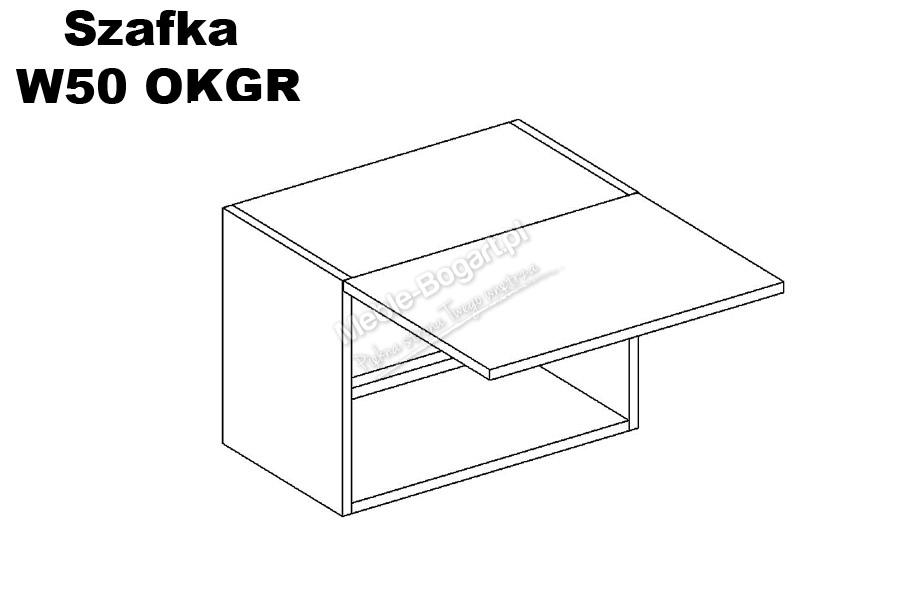 Nabytok-Bogart Zofia w50 okgr - skrinka závesná digestorová, biela
