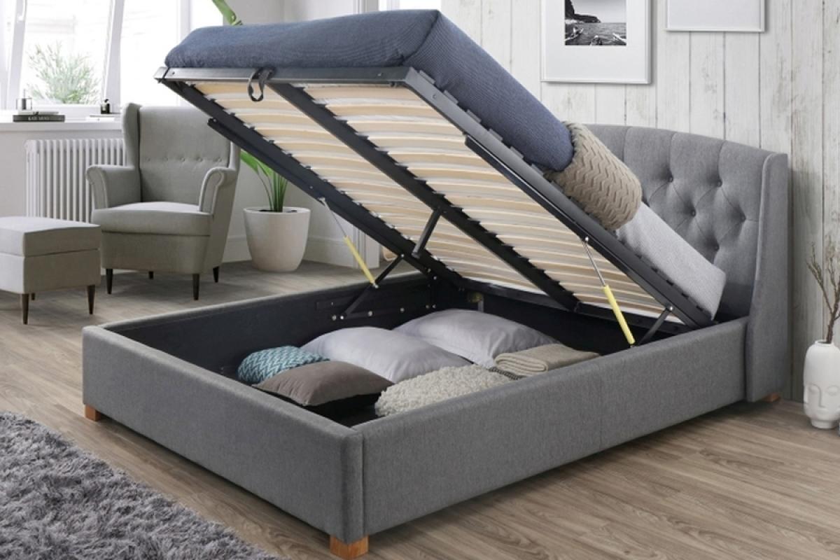 łóżko Hampton 160 X 200 Z Pojemnikiem Na Pościel