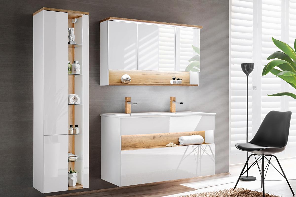Szafka Z Lustrem Do łazienki Bahama White 843 120 Cm