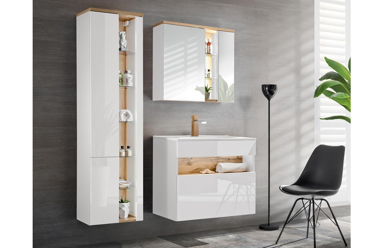 Szafka Z Lustrem Do łazienki Bahama White 841 80 Cm