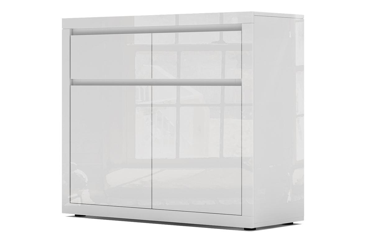 Bogart Design Komoda biała lakierowana wysoki połysk 2S2D Elvie 01