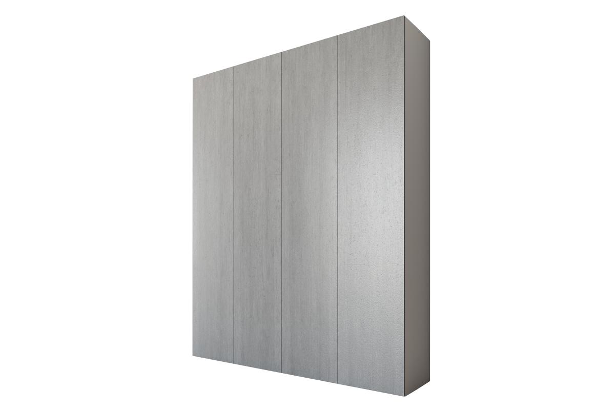 Helvetia Szafa Kirsten 180 cm 24YOIP56 Biały/Colorado Beton - Darmowa Dostawa