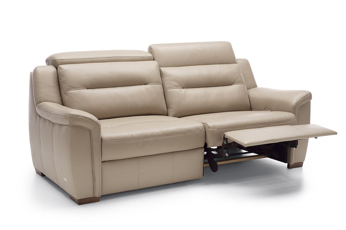 Bydgoskie Meble Sofa z manualną funkcją relaks Salmo 3RF (man) - Darmowa Dostawa