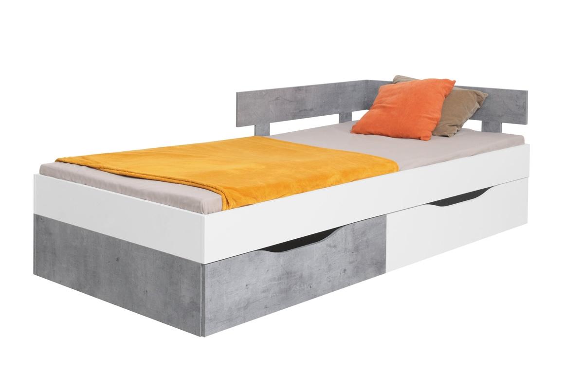 łóżko Sigma Si16 Lp Biały Lux Beton