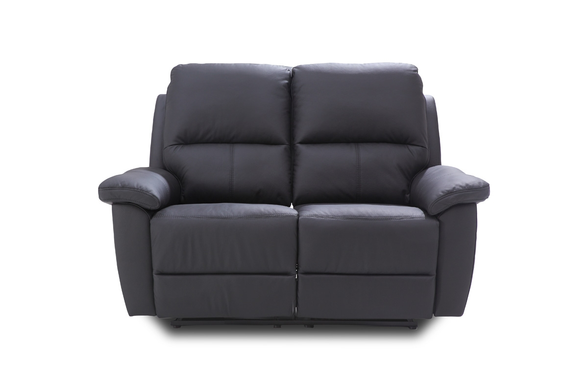 Bydgoskie Meble Sofa dwuosobowa do salonu z manualną funkcją relax Twins 2RF - Darmowa Dostawa