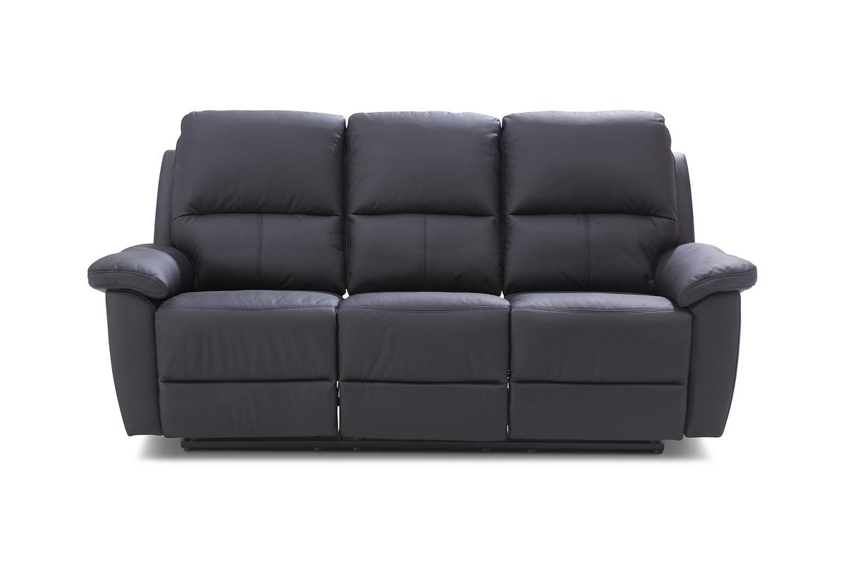 Bydgoskie Meble Sofa trzyosobowa do salonu z manualną funkcją relax Twins 3RF - Darmowa Dostawa