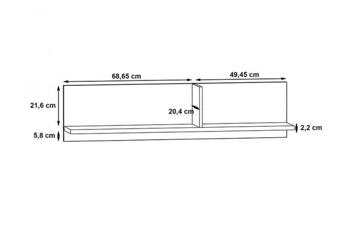 Półka wisząca LORB01-M135 Kolaza półka wisząca
