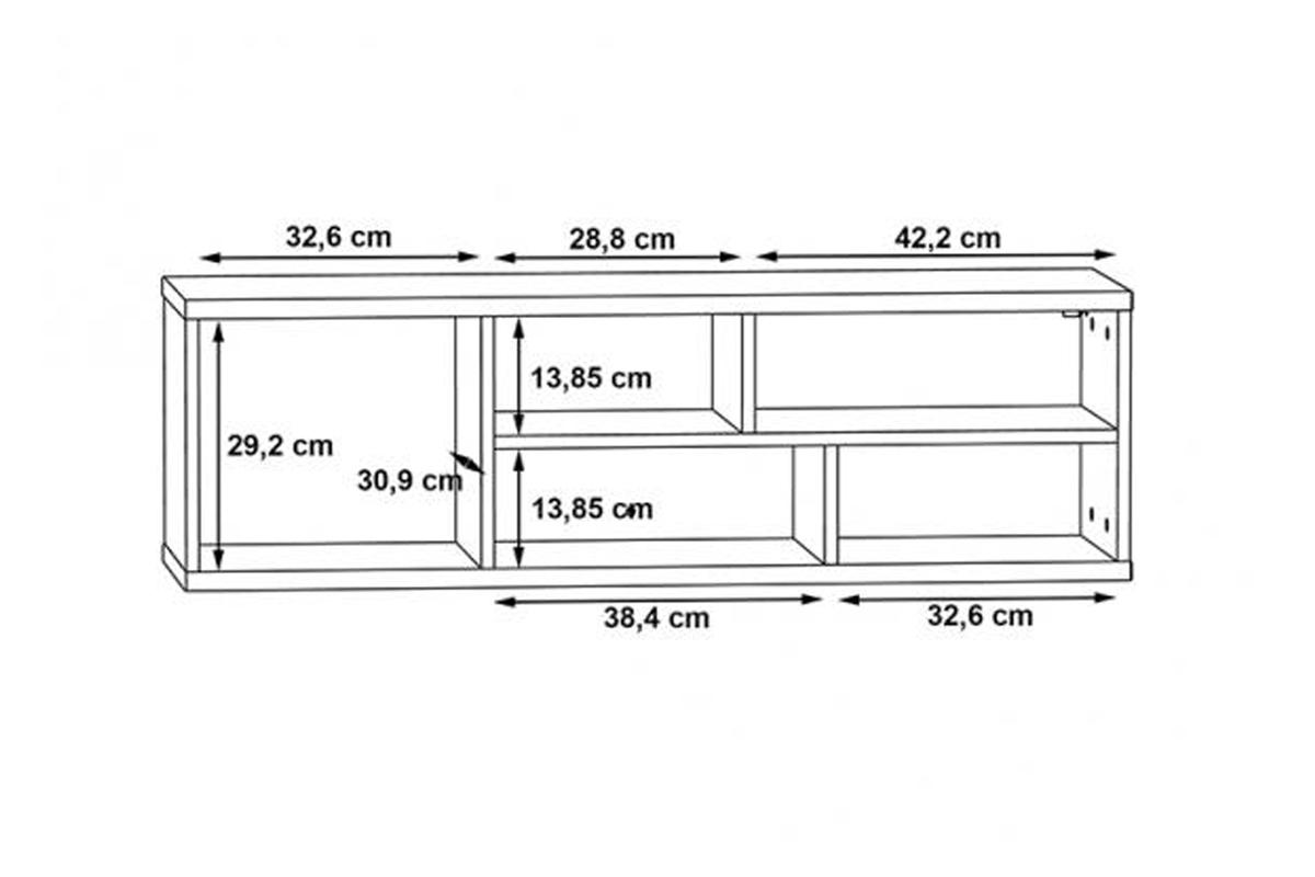 Półka wisząca KLZH031-M135 Kolaza półka dziecięca