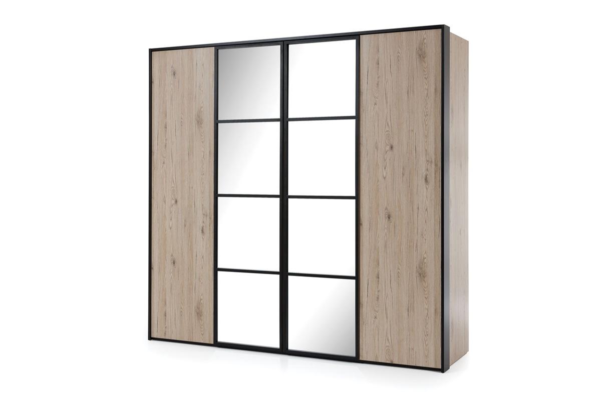 New Elegance Szafa czterodrzwiowa z lustrem GlassLoft - Darmowa Dostawa