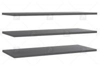 Półki wewnętrzne STDD32 do szaf Forte szare pólki