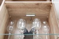 Obývacia stena Saala 3 Vitríny s LED osvetlením