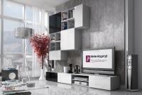 Skrinka Briks TV2 - Biela/Biely lesk - výpredaj