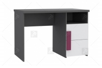 Komplet mebli młodzieżowych Libelle 2 szare biurko