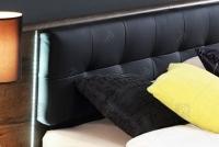 Łóżko + szafki nocne BLQL181B Bellevue łóżko z tapicerowanym wezgłowiem