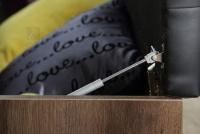 Łóżko + szafki nocne BLQL181B Bellevue ławka z pojemnikiem