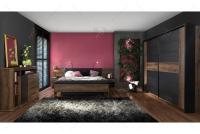 Łóżko + szafki nocne BLQL181B Bellevue meble do sypialni