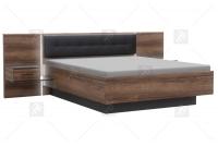 Łóżko + szafki nocne BLQL181B Bellevue łóżko z oświetleniem